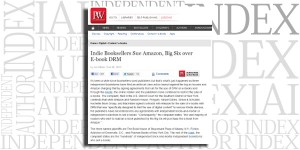 From Publishers Weekly: Indie Booksellers Sue Amazon, Big Six over E-book DRM